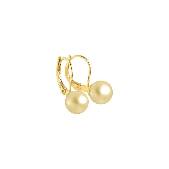 Boucles d'oreilles véritables perles de culture d'eau douce rondes 6 Sneakernews Pas Cher En Ligne Prix Pas Cher De Haute Qualité Vente 2018 Des Emplacements De Sortie i2qrl6O