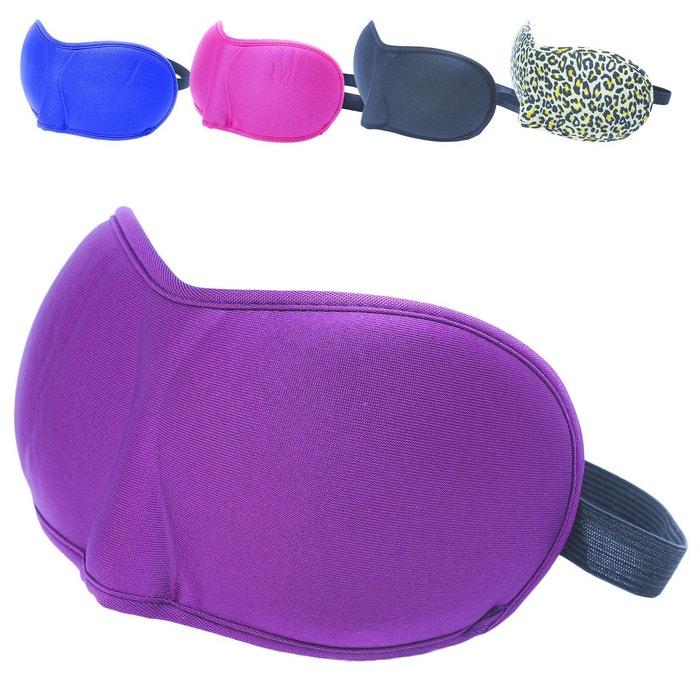 masque de nuit sommeil voyage avec serre t te lastique cache yeux pour dormir violet. Black Bedroom Furniture Sets. Home Design Ideas