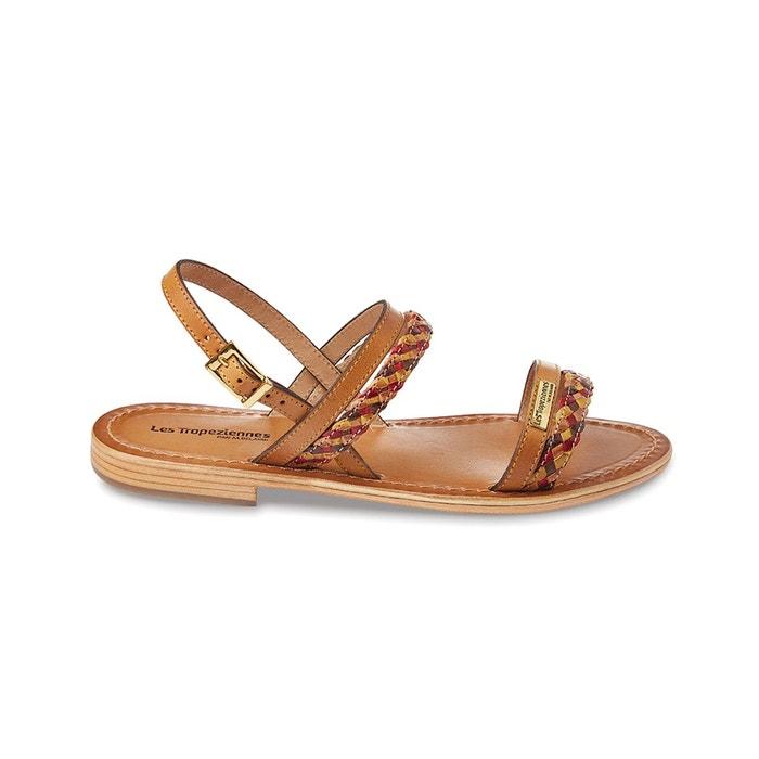 sandales cuir miel les tropeziennes par m belarbi la redoute. Black Bedroom Furniture Sets. Home Design Ideas