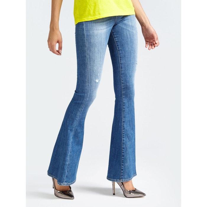 3470547a511f Jeans Slim Pattes D éléphants Déchiré GUESS image 0
