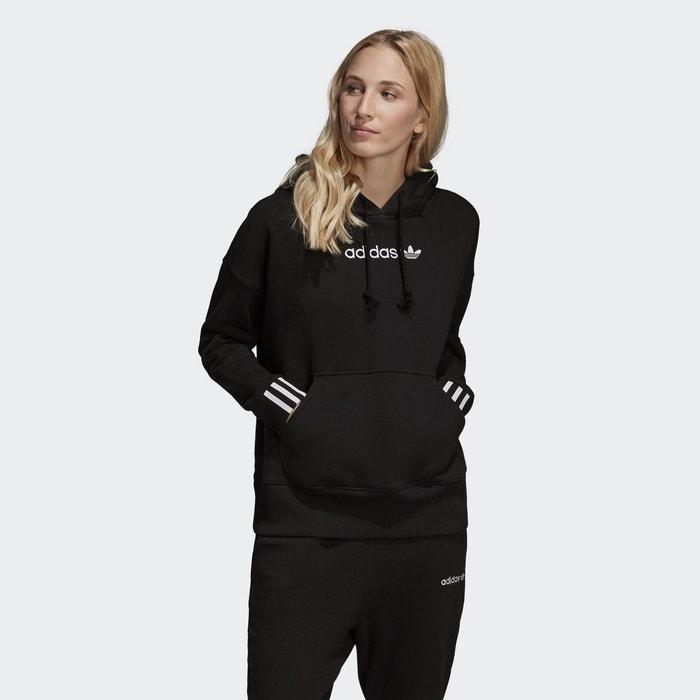 0be13f5d5f Sweat-shirt à capuche coeeze cropped noir Adidas Originals   La Redoute