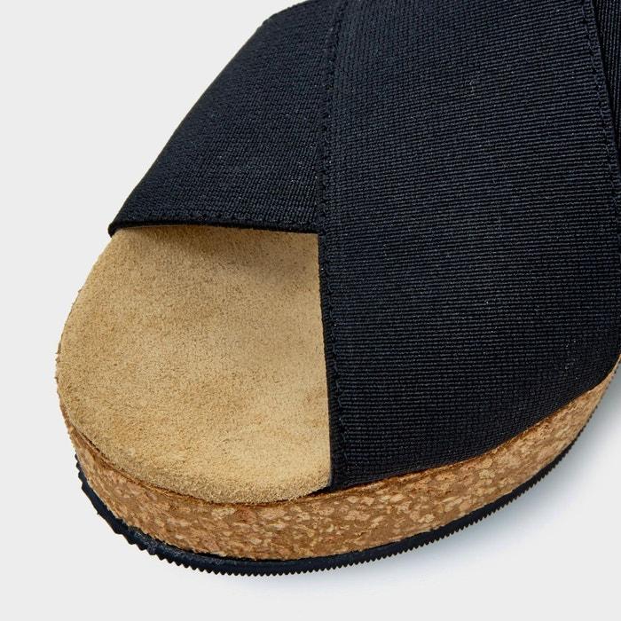 Sandales compensées à brides croisées élastiquées - kendle Dune London