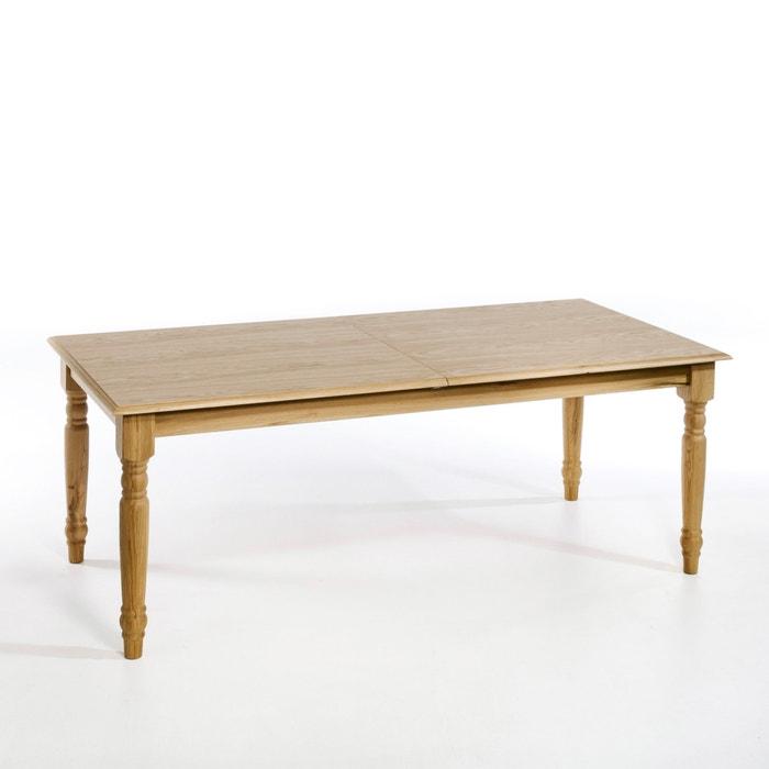 Tafel met verlengstuk 10 personen germaine naturel eikenhout am pm la redoute - Ampm tafel ...