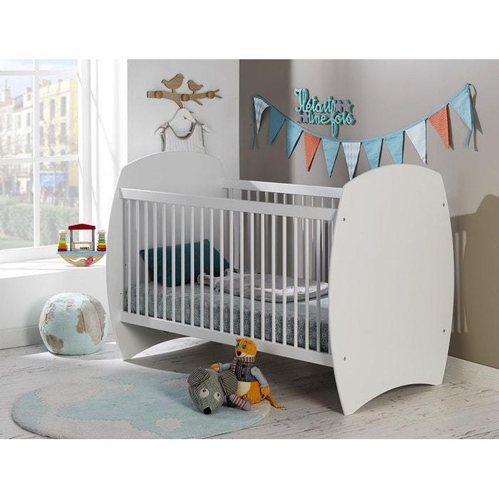 lit b b volutif 70x140 barreaux blanc violette blanc alfred et compagnie la redoute. Black Bedroom Furniture Sets. Home Design Ideas
