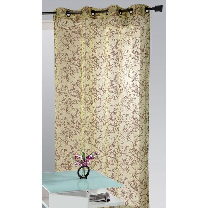 voilage branches en hiver prune anis home maison la redoute. Black Bedroom Furniture Sets. Home Design Ideas