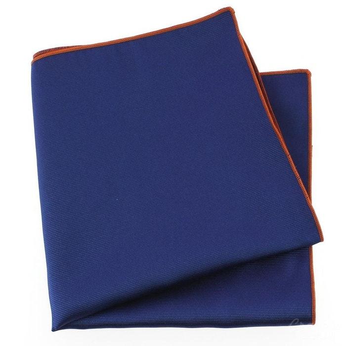 Pochette soie, bleu royal, ourlet orange bleu Tony Et Paul | La Redoute
