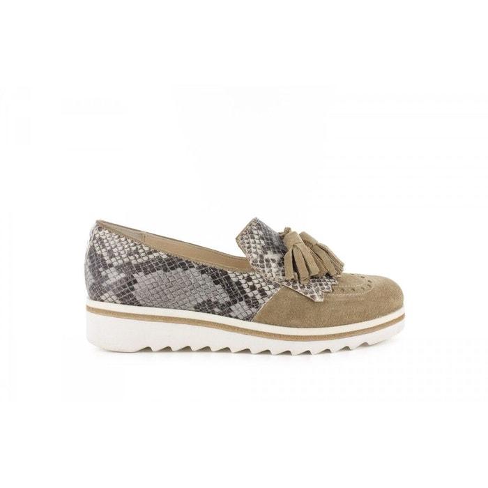 Manas Derbies- Gris - Chaussures Derbies Femme