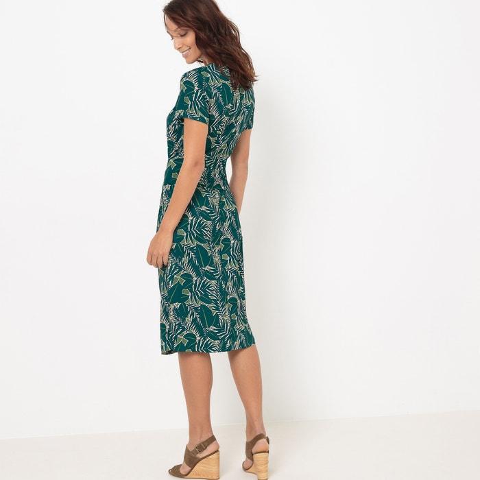 La Collections Vestido anudar Redoute tropical estampado para con OrRwO6vq5