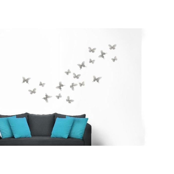 Déco murale papillons métal lot de 9