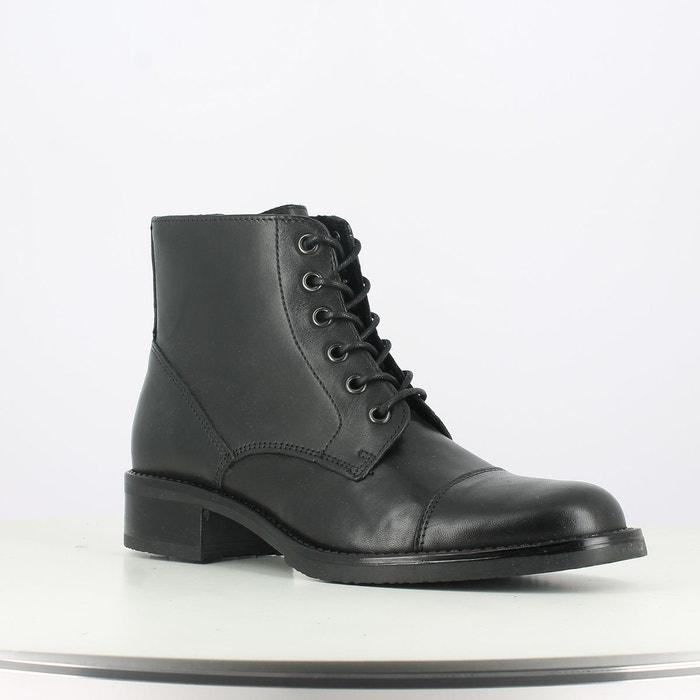 Boots cuir tess noir Jonak
