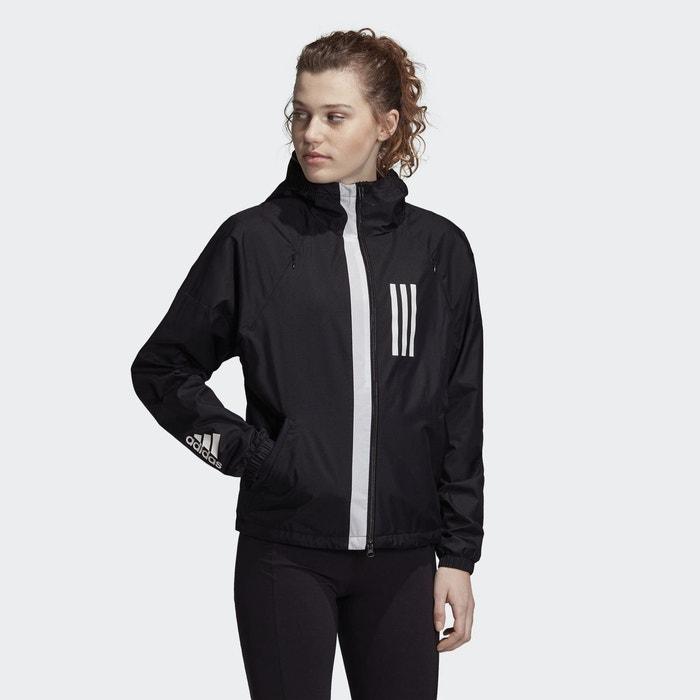 41d7f94964 Veste fleece-lined wnd noir Adidas Performance | La Redoute