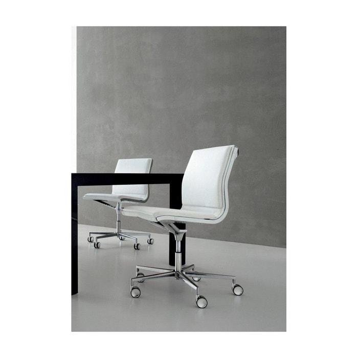 Cuir Chaise Bureau Sans Howie De Blanc Accoudoirs En xtQdsrCh