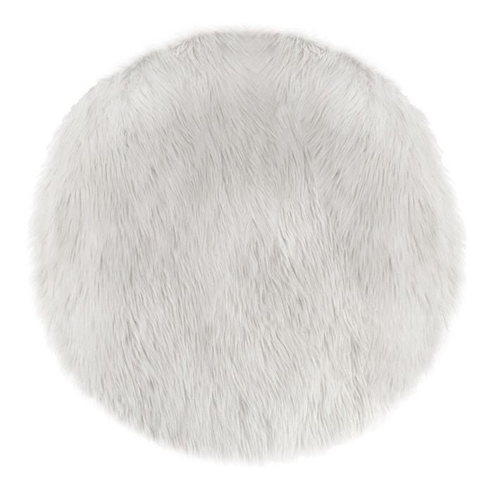 Tapis Rond Fausse Fourrure Blanc Atmosphera La Redoute