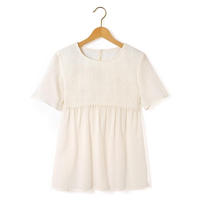 Blusa crepé de algodón 10-16 años  La Redoute Collections image 0