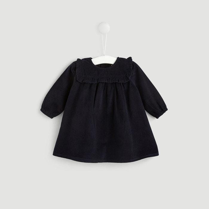 1822e4bd6b5a9 Robe velours bleu Bout'chou | La Redoute