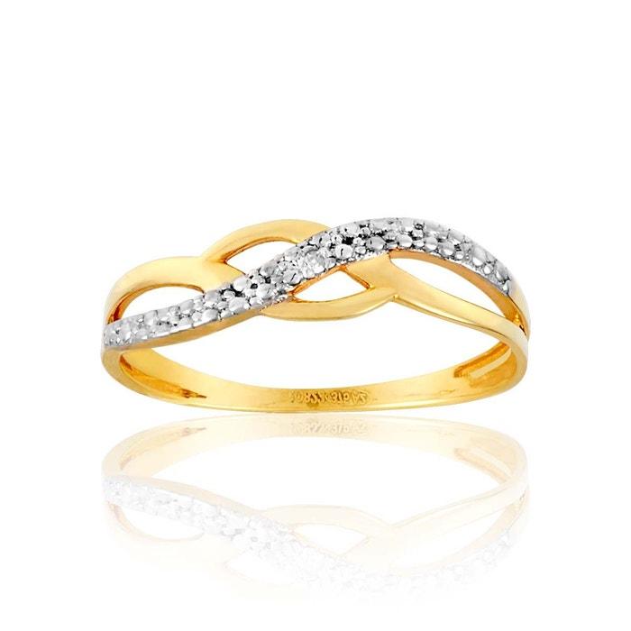 Bague or 375/1000 diamant blanc Cleor | La Redoute Par Carte De Crédit En Ligne Dépêchez-vous Lieux De Sortie Vente En Ligne Nice Pas Cher En Ligne tHNPw