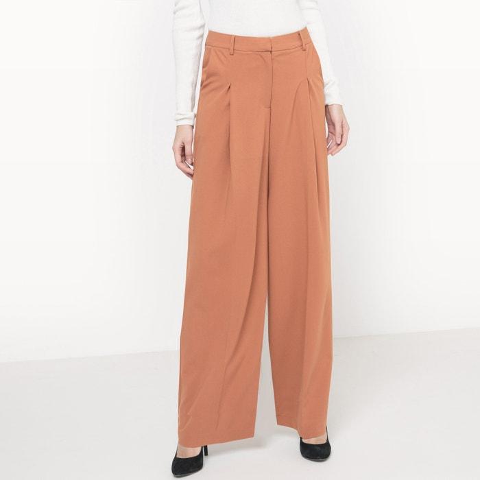 pantalon extra large marron clair la redoute collections la redoute. Black Bedroom Furniture Sets. Home Design Ideas