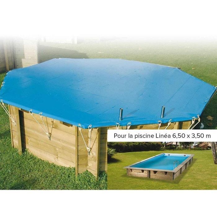 B che hiver pour piscine lin a ubbink 3 50 x 6 50 m for Piscine bois la redoute