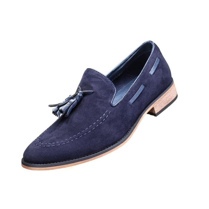 Chaussure derbie à pompoms bleu Galax