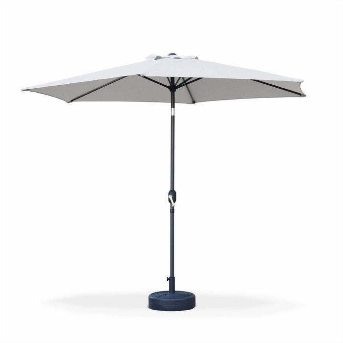 parasol droit touquet rond 300cm sable m t central aluminium orientable et manivelle d. Black Bedroom Furniture Sets. Home Design Ideas