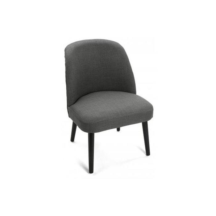 Chaise en tissu scandinave gris fonc gabardine blanc declikdeco la redoute - Chaise scandinave la redoute ...