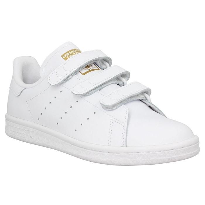 Baskets à scratch stan smith blanc Adidas