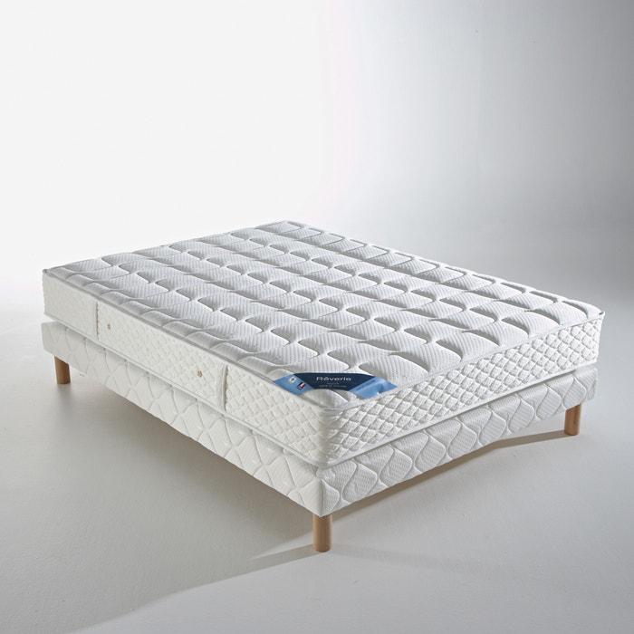 ensemble matelas ressorts sommier reverie blanc la redoute. Black Bedroom Furniture Sets. Home Design Ideas