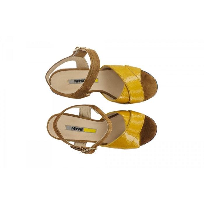 Sandales-manas jaune Manas