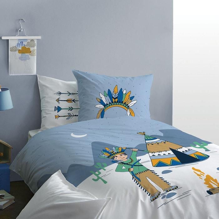 parure de lit enfant imprim fantaisie 100 coton bleu matt et rose la redoute. Black Bedroom Furniture Sets. Home Design Ideas