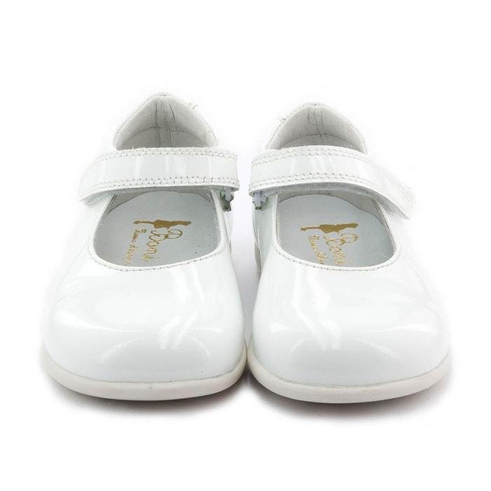 238d73c564687 Boni withe - chaussures fille premiers pas blanche Boni Sidonie