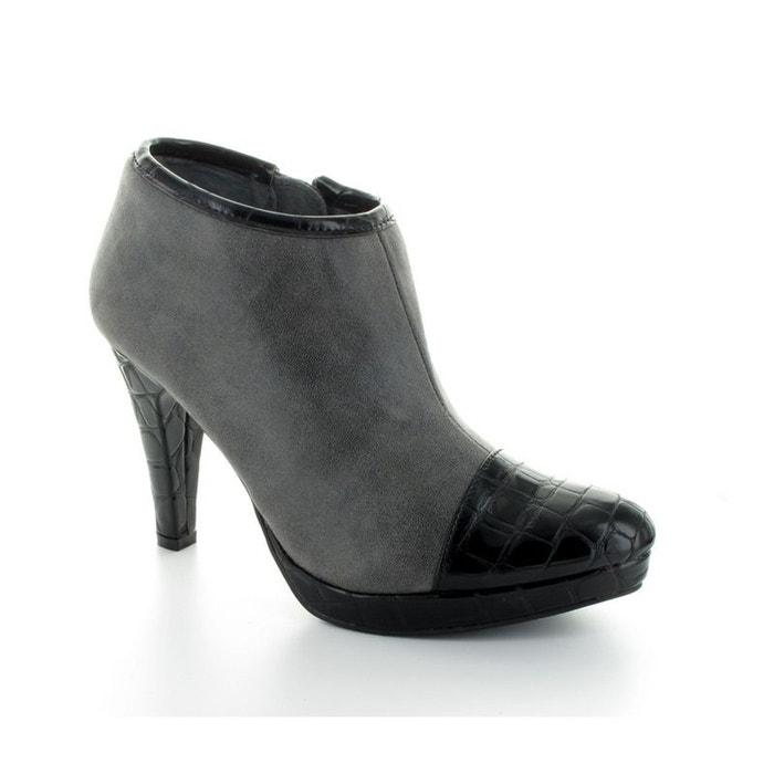 LPB Shoes Low Boots  Béatrix Noir Noire - Chaussures Low boots Femme