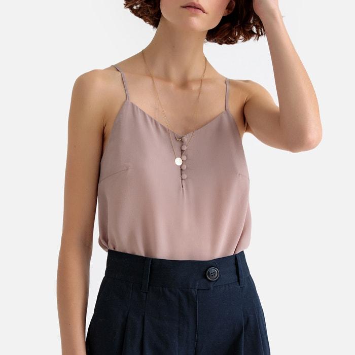 302ed1bcee Silk Buttoned V-Neck Camisole Silk Buttoned V-Neck Camisole LA REDOUTE  COLLECTIONS