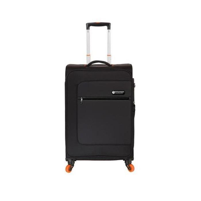horizon valise cabine souple 4 roues 51cm pulse noir et orange noir horizon la redoute. Black Bedroom Furniture Sets. Home Design Ideas