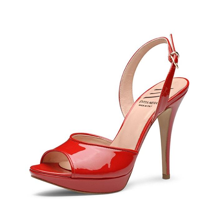 Sandales femme rouge Evita Parfait Pas Cher En Ligne Dernier Prix Pas Cher Acheter Votre Propre WIt1xWYO