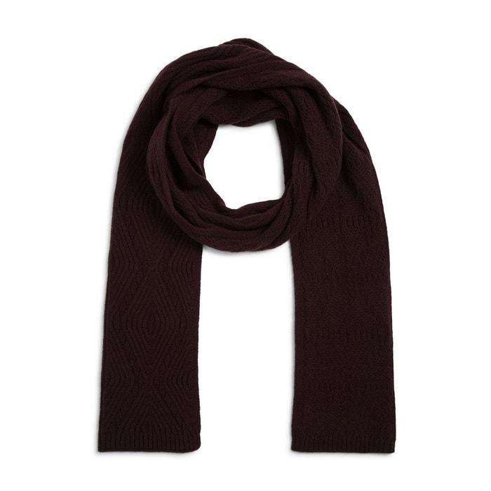 Echarpe en laine et cachemire violet Monoprix   La Redoute 8cc61cb0fed