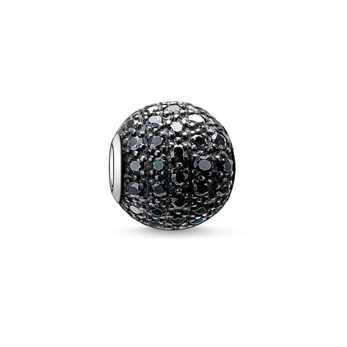 Bead pavé noir argenté/noir Thomas Sabo | La Redoute Acheter Pas Cher À Vendre QOwdA