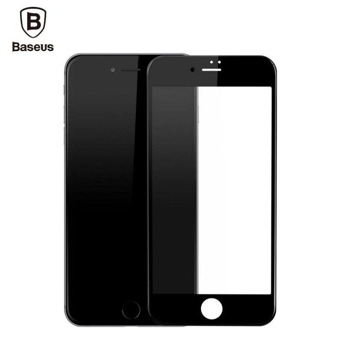film iphone 8 iphone 7 protection cran verre tremp contour noir baseus couleur unique. Black Bedroom Furniture Sets. Home Design Ideas