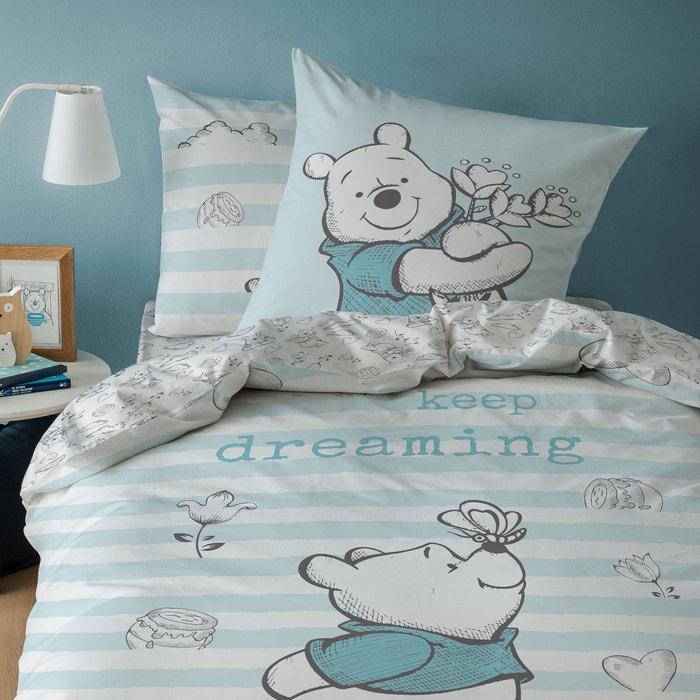 Parure de lit enfant disney winnie l\'ourson bleu Winnie The Pooh ...