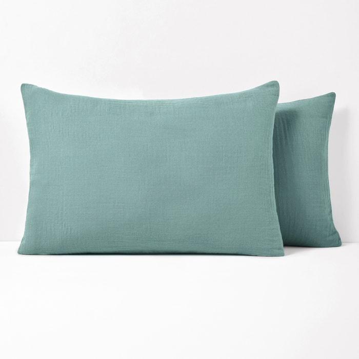 Snow Cotton Gauze Pillowcase  La Redoute Interieurs image 0