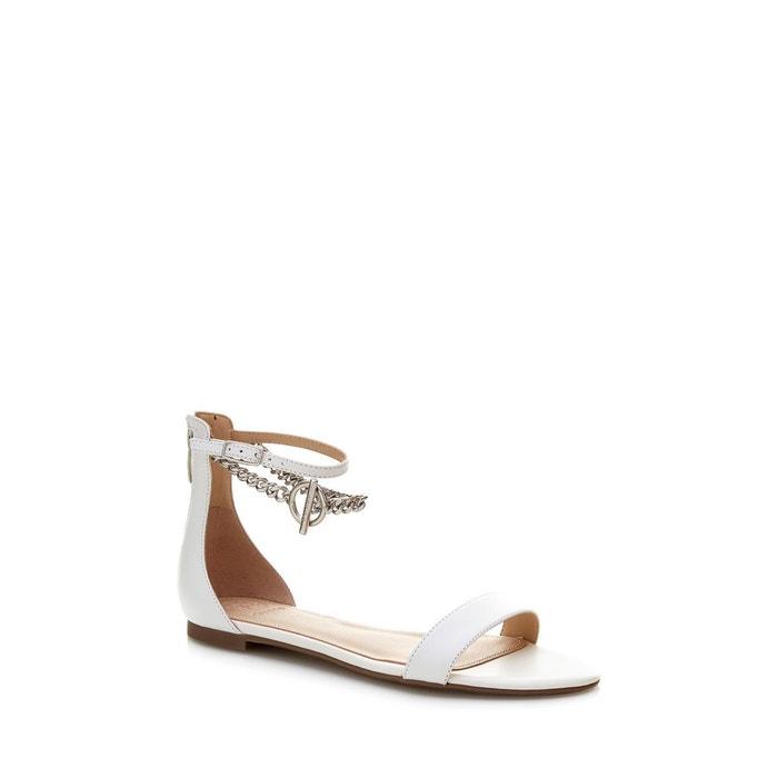 Sandales ronalda cuir blanc Guess Vente Finishline WePcOKv74