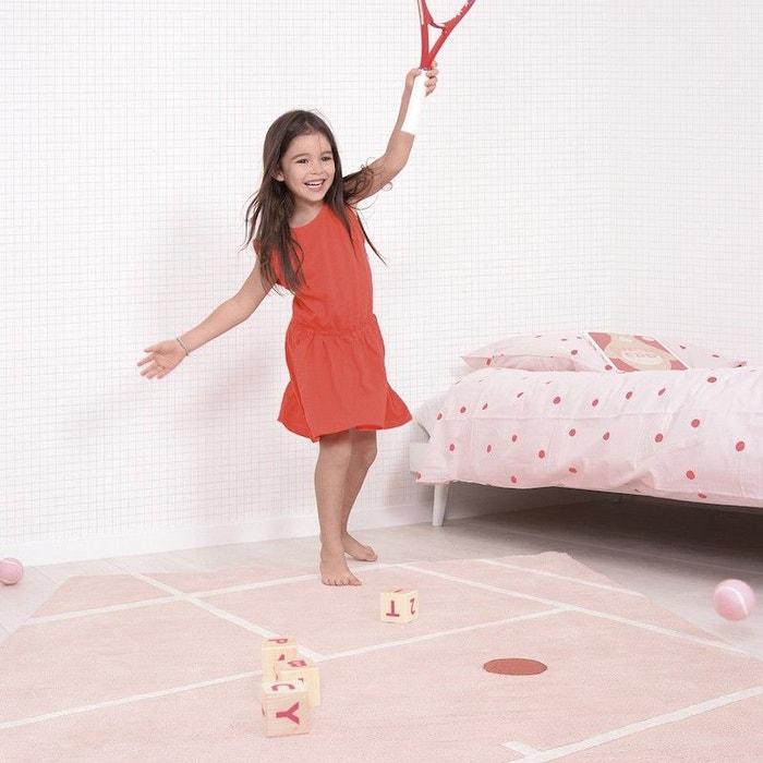 Terrain Tennis rose rectangle pour chambre bebe fille par Lilipinso