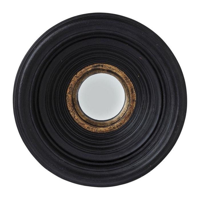 Miroir convex noir 38cm kare design noir kare design la for Miroir design noir