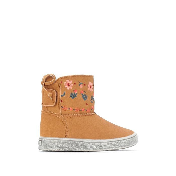 Boots fourrée broderie fleurs