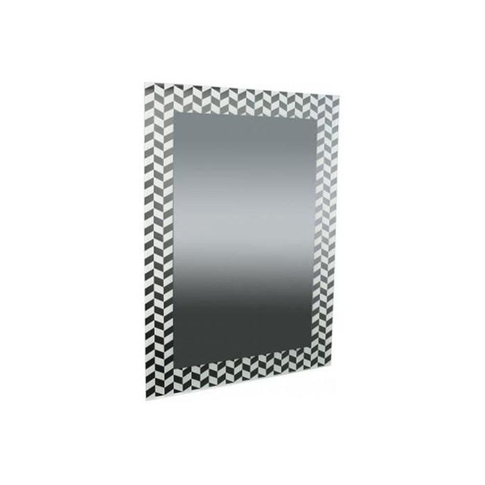 Miroir rectangulaire impression formes g om triques blanc for Miroir 90x60
