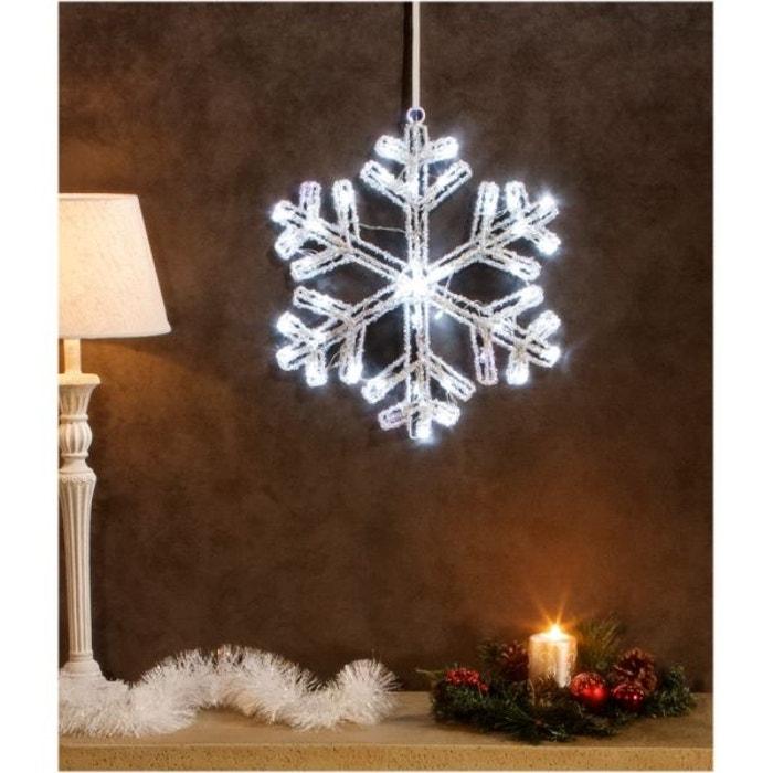 superbe illumination de no l flocon de neige lumineux en acrylique led blanches. Black Bedroom Furniture Sets. Home Design Ideas