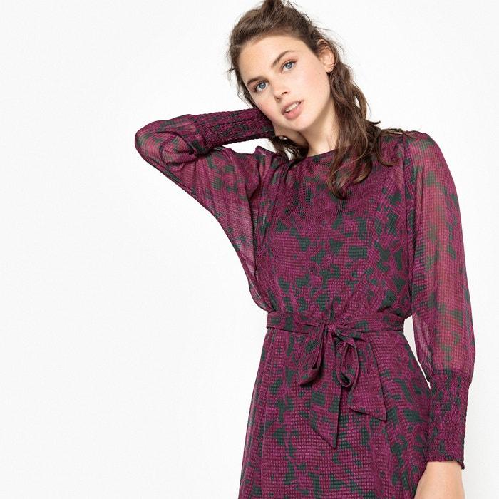 Платье-миди с цветочным рисунком с комбинацией
