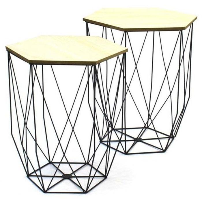 tables gigognes filaires lot de 2 the concept factory. Black Bedroom Furniture Sets. Home Design Ideas
