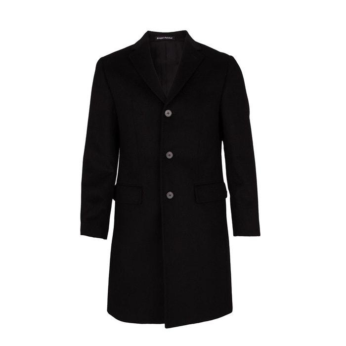 manteau laine et cachemire trois quart noir noir bregal pelchat la redoute. Black Bedroom Furniture Sets. Home Design Ideas