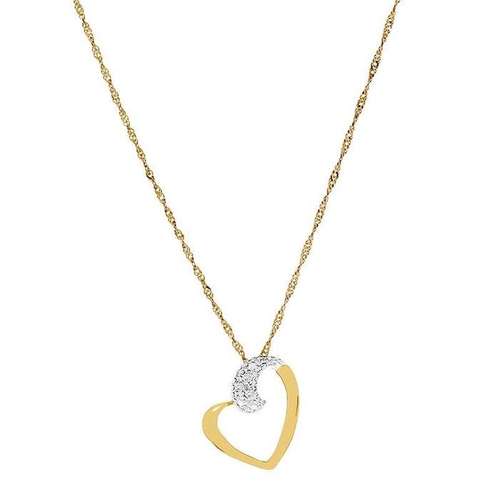 Collier or 375/1000 diamants blanc Cleor | La Redoute La Fourniture Livraison Gratuite Le Meilleur Gros KhUPOb