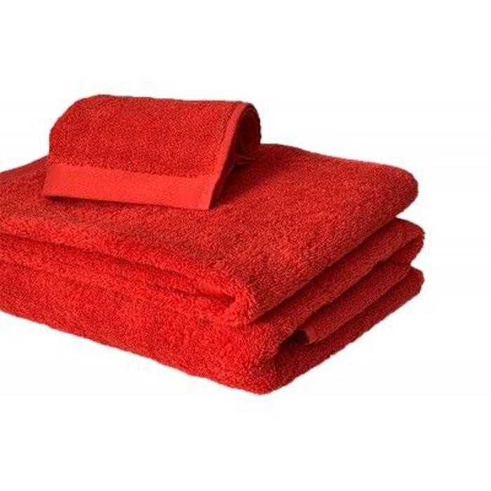 serviette de bain 685g m2 rouge corail rouge corail liou. Black Bedroom Furniture Sets. Home Design Ideas